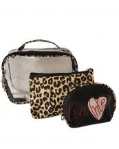 BC7507(BK))-(3PCS)-wholesale-cosmetic-bag-3pc-set-clear-and-Leopard-pattern-(0).jpg