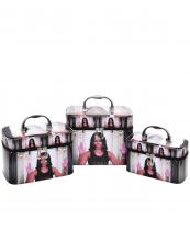 CO417(MUL)-(SET-3PCS)-wholesale-cosmetic-case-bag-michelle-obama-faux-patent-leatherette-multi-color-silver-mirror-3pc-set(0).jpg