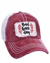 FWCAPM732(BUR)-wholesale-cap-mesh-bad-hair-day-floral-leaves-embroidered-baseball-vintage-torn-stitch-trucker(0).jpg