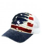 GWCAPM1743(NV)-wholesale-cap-american-flag-usa-stars-stripes-faded-handwrite-mesh-trucker-baseball-cotton-polyester(0).jpg
