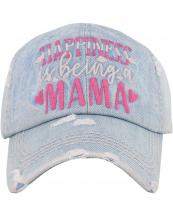 KBV1384(LDM)-wholesale-baseball-cap-happiness-is-being-a-mama-embroidered-vintage-cotton-velcro-adjustable(0).jpg