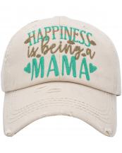 KBV1384(STN)-wholesale-baseball-cap-happiness-is-being-a-mama-embroidered-vintage-cotton-velcro-adjustable(0).jpg