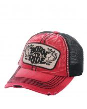 KBVT616(RD)-wholesale-baseball-cap-mesh-trucker-embroidered-born-to-ride-wings-stitched-torn-cotton-polyester-(0).jpg